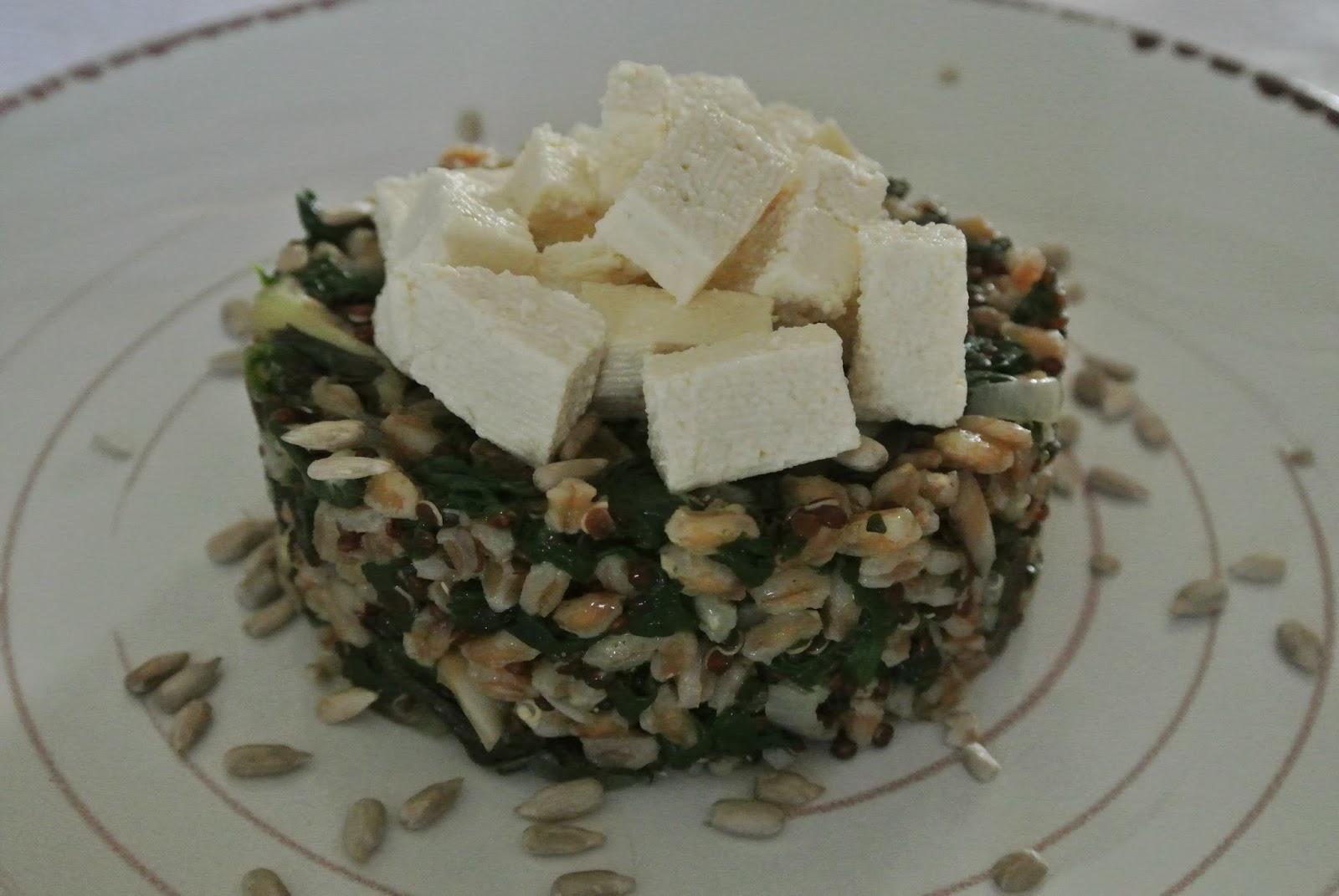 tortino di farro e quinoa rossa