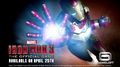 Videojuego oficial de Iron Man 3 creado por Gameloft