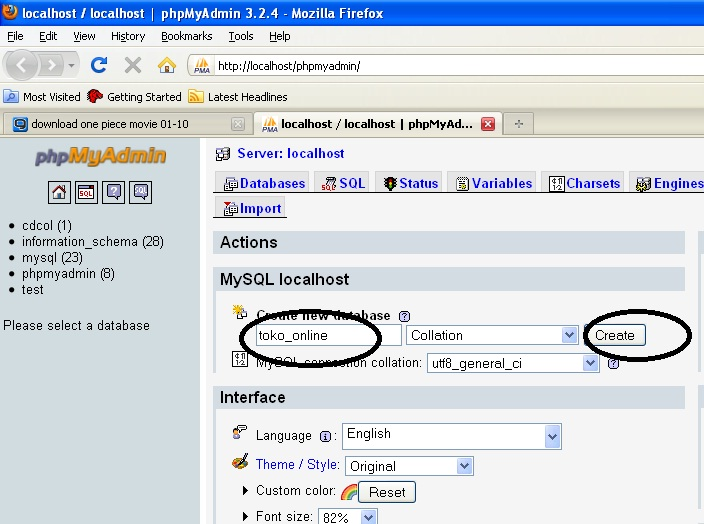 SELALU CERIA: DATABASE MYSQL PHPMYADMIN