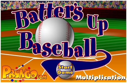 Ball Game : Batter's Up Base Ball Math - Multiplication Edition