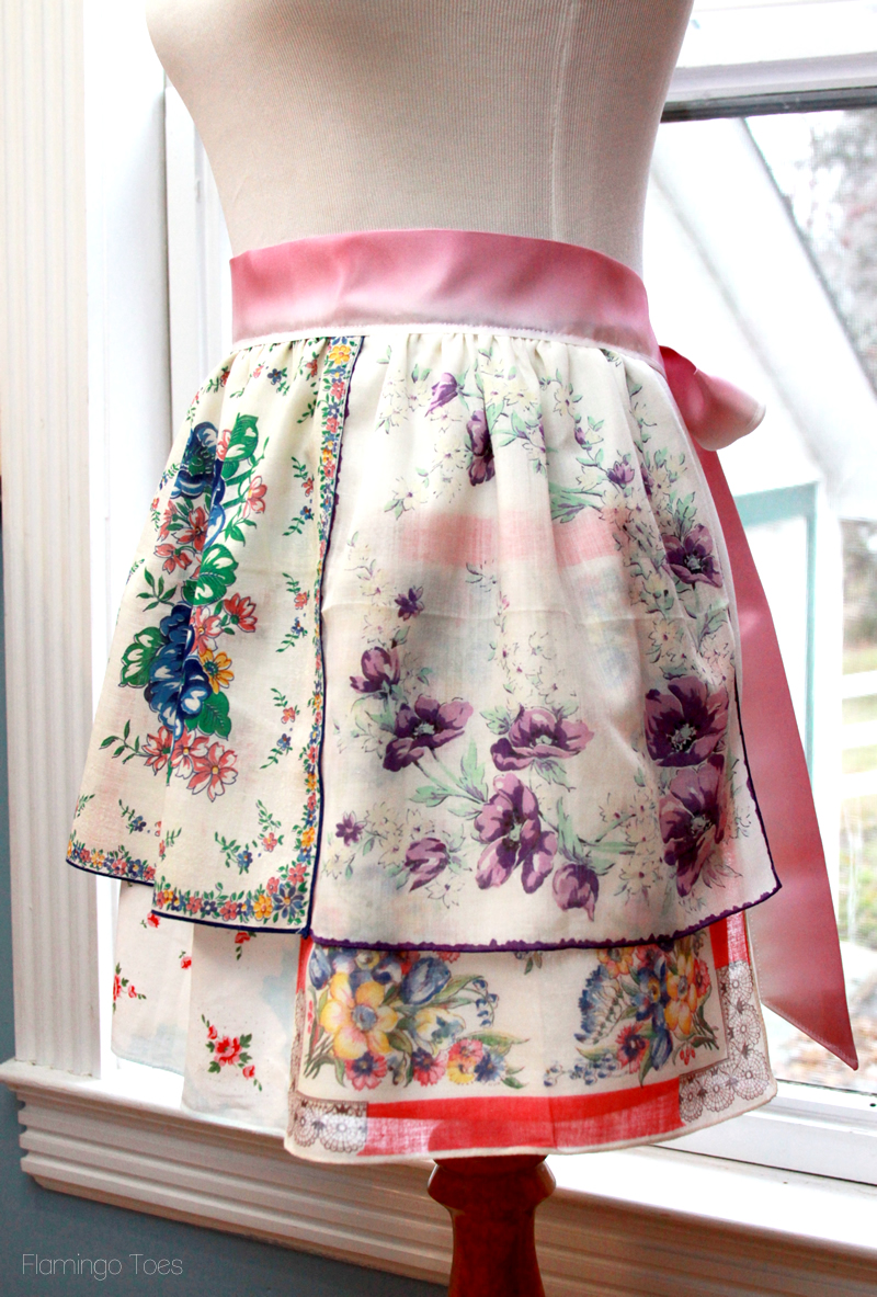 Colorful Vintage Handkerchief Apron