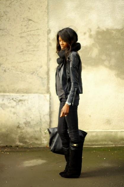 1bd46412920 inspiré des fameuses bottes guêtres de Givenchy et déjà faites ! Je les ai  prises en daim (comme dans ce look) et en cuir pour les jours de pluie. ...