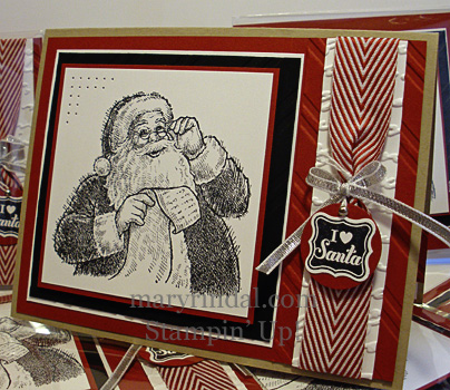 stampin up, christmas card, santa's list