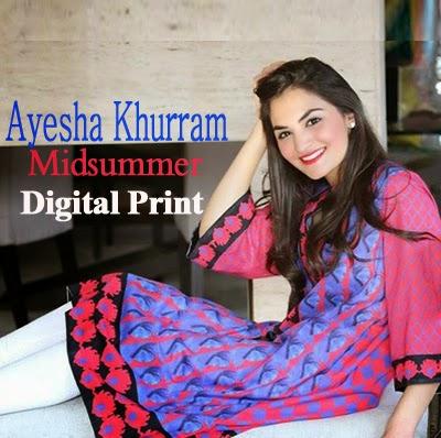 Ayesha Khurram Midsummer Digital Print Collection