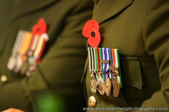 New Zealand Army medals photograph