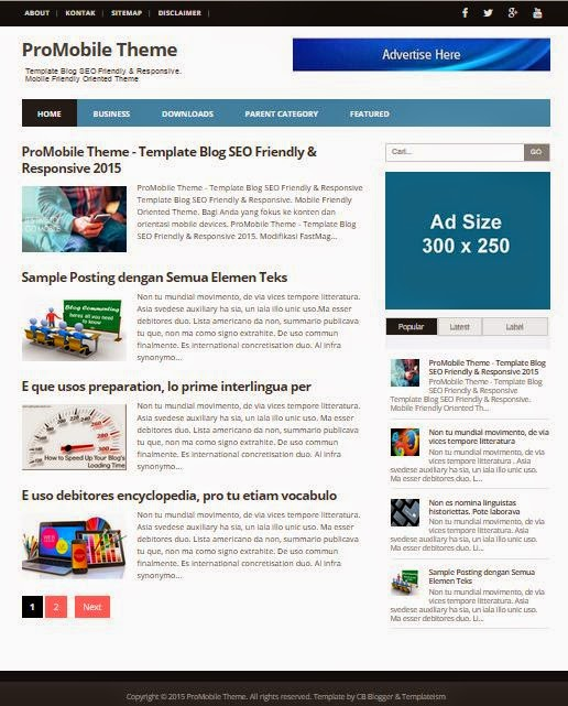 Free Mobile Friendly Blogger Templates Blogger Mobile Templates ...