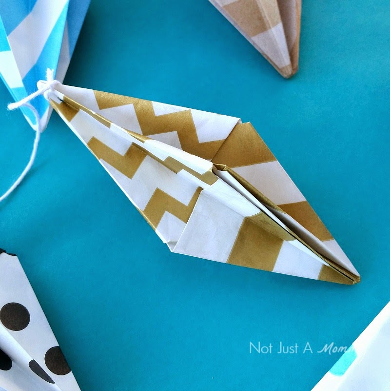 Origami Bitty Bag Diamonds close up