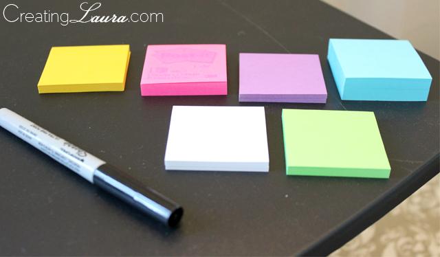 Sticky Note Calendar Diy : Creating laura diy sticky note calendar