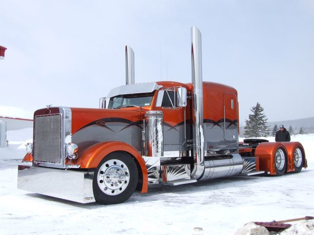 Custom Peterbilt Trucks on flatbed semi trailers for sale in california