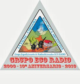 LOGO DEL 10º ANIVERSARIO del Grupo ECO RADIO