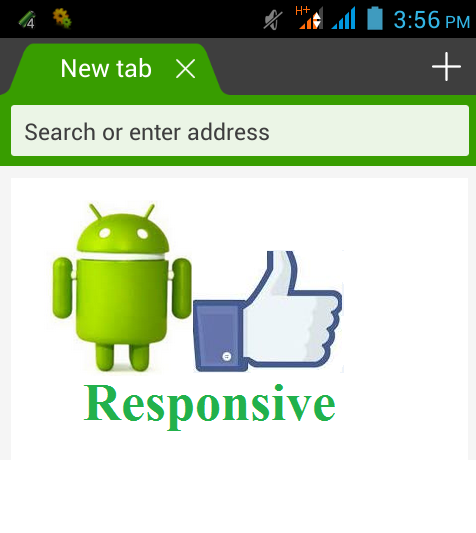 Dolphin Android Browser is Responsive
