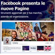 Nuove pagine di Facebook