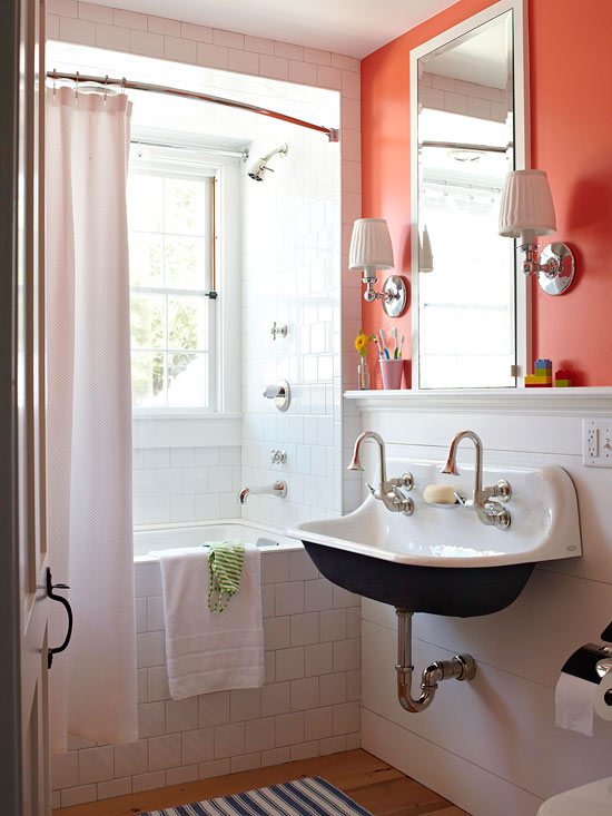 Bathroom Design Colors : Colorful bathrooms decorating ideas color schemes