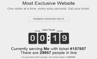 Wow, Netizen Puluhan Ribu Netzien Mengantri Hanya Membuka Situs mostexclusivewebsite.com