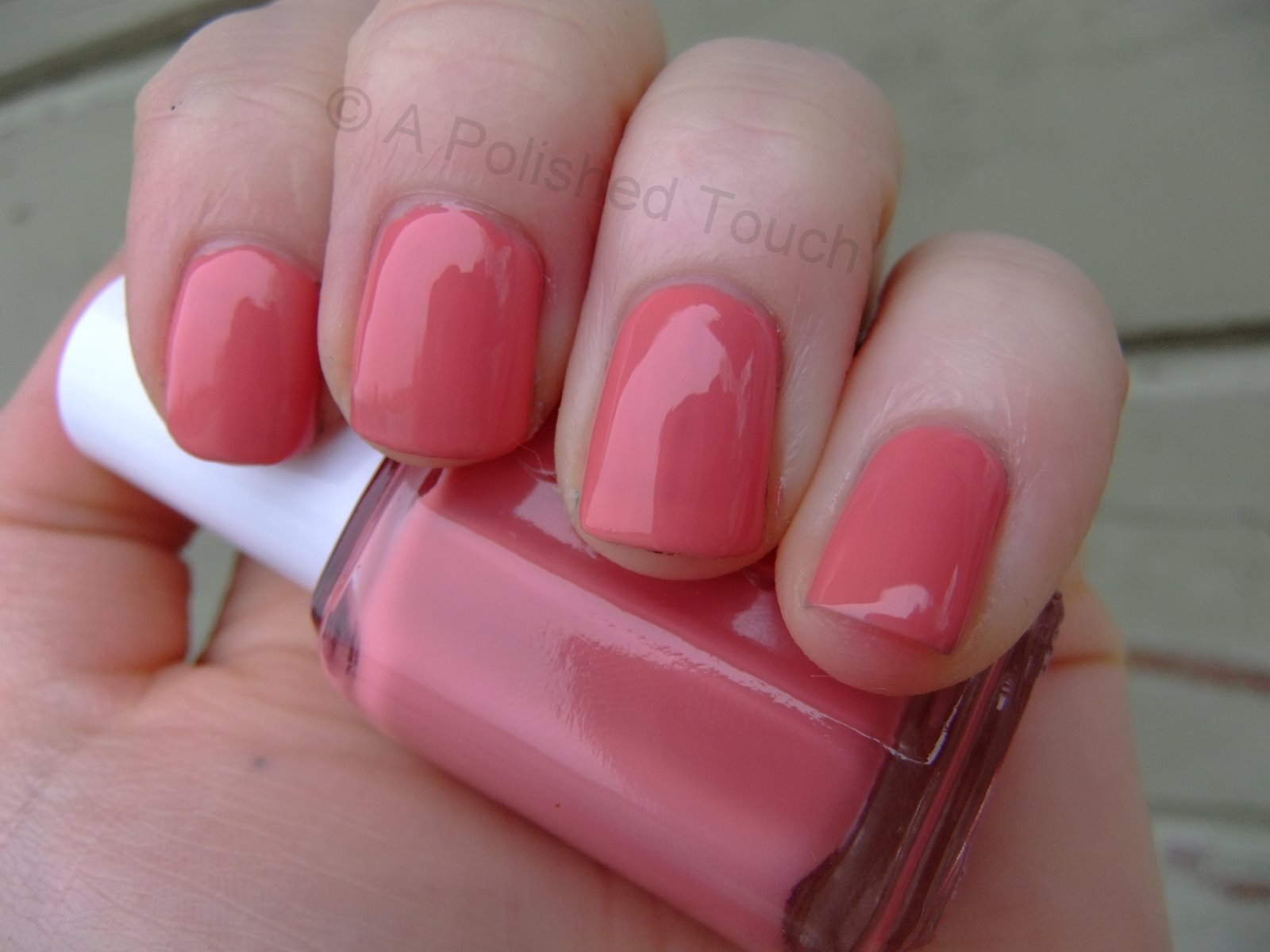 A Polished Touch: Pink Wednesday: Essie \'My Place or Yours\