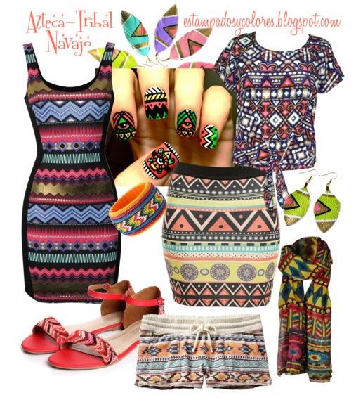 estampados y colores estampado tribal