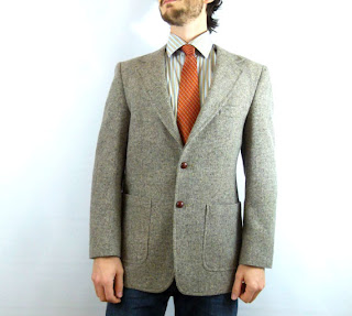 Men's tweed blazer with elbow patches