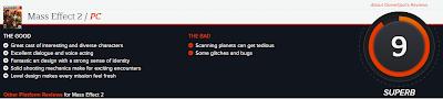 Mass Effect 2 PC Game Gamespot Rating