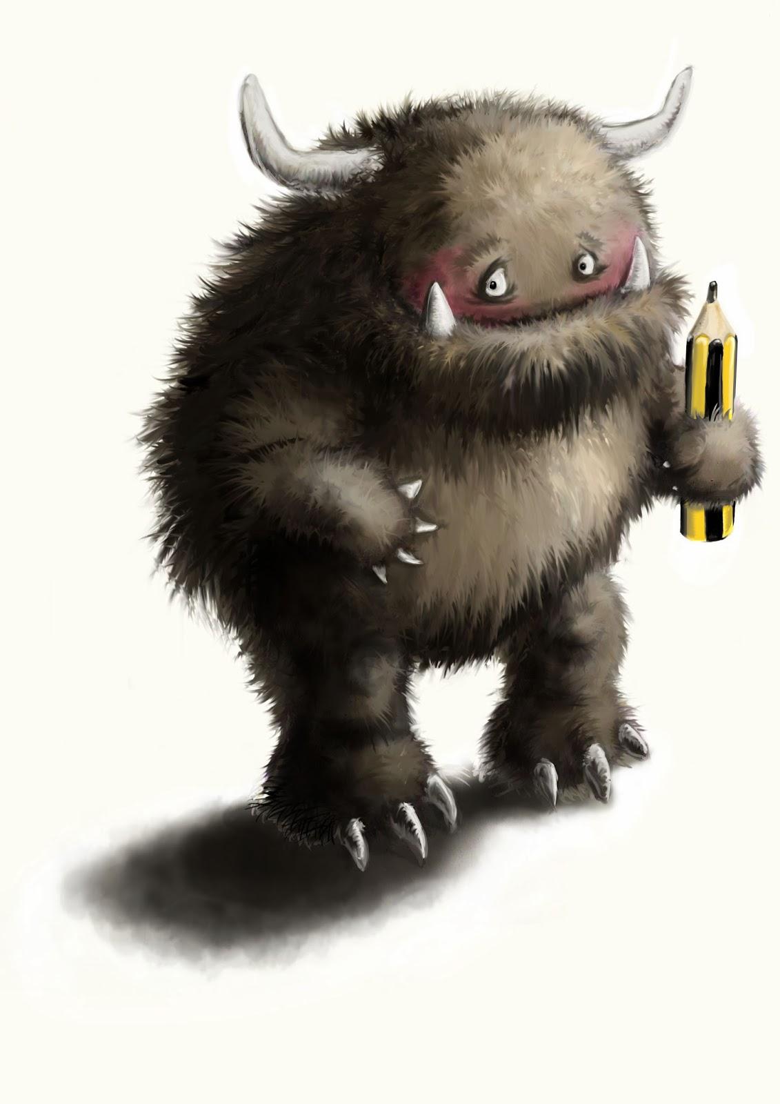 Kinderbuchillustration, Monster, Fehlerteufel, children's book illustration, cute, gremlin