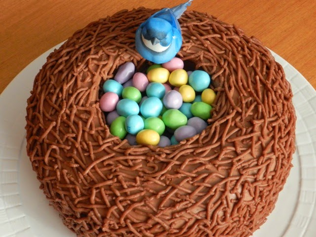 DIY Easter Bird Nest Cake