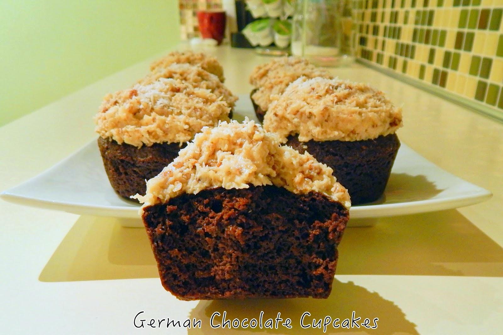 German Chocolate Cupcakes | Cut The Wheat