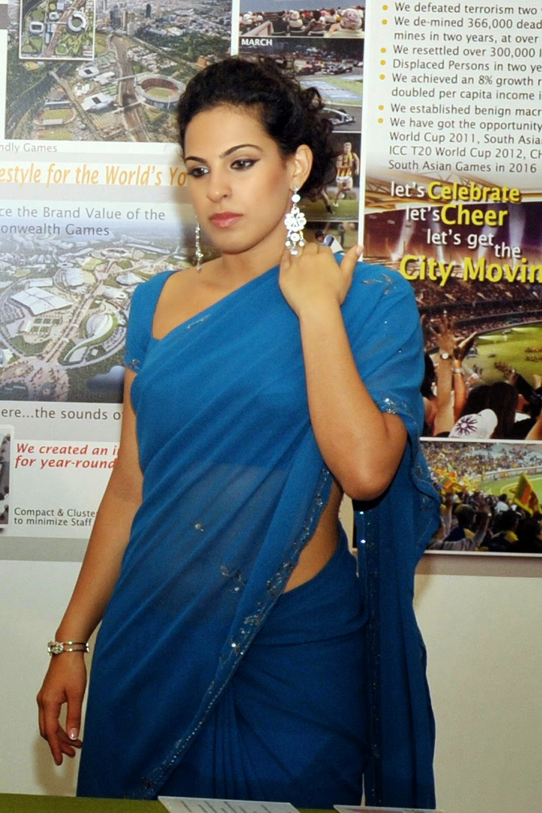 Stephanie Siriwardhana saree