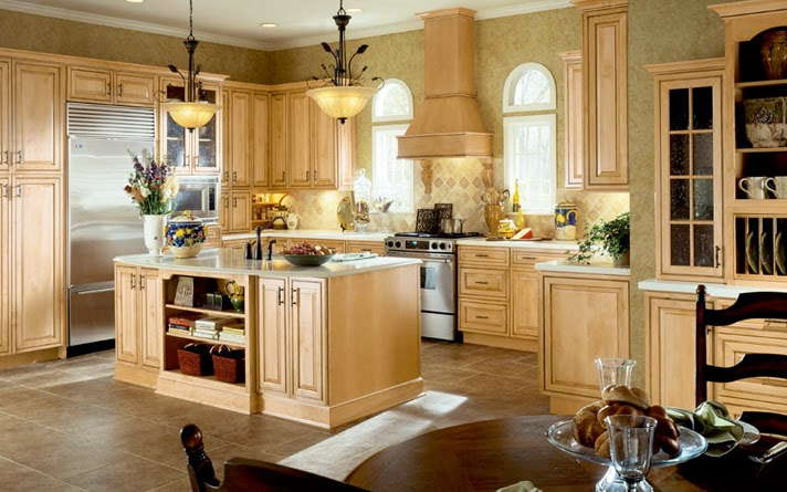 country maple kitchen cabinets