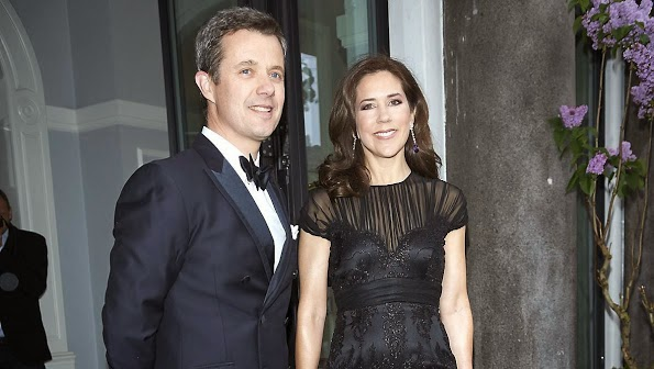 Prince Frederik And Princess Mary Attends Gala Celebration At Hotel D'Angleterre