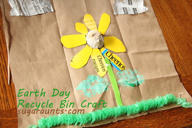Earth Day Recycling Bin Craft