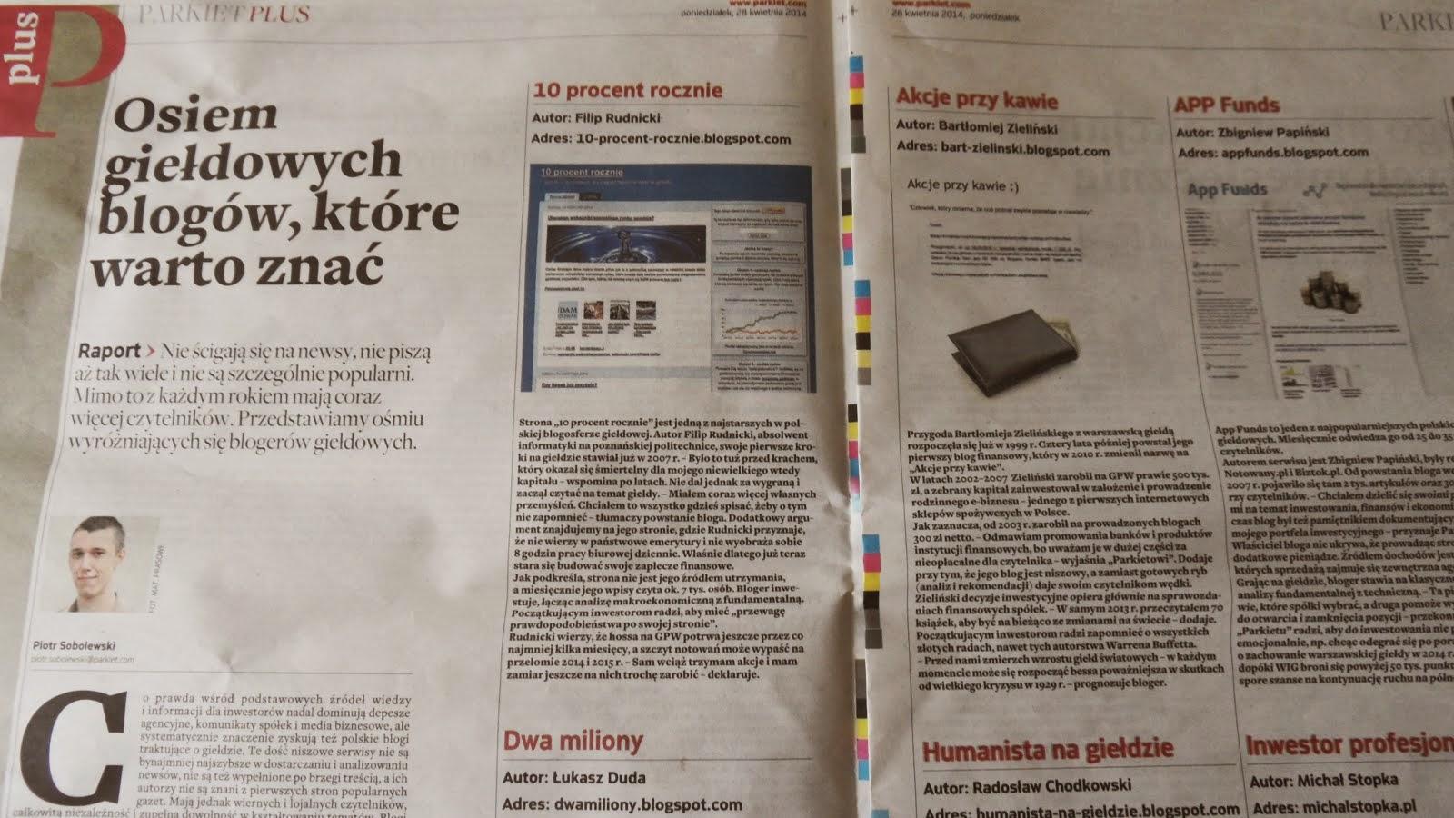 Gazeta Giełdy Parkiet poleca tego bloga.