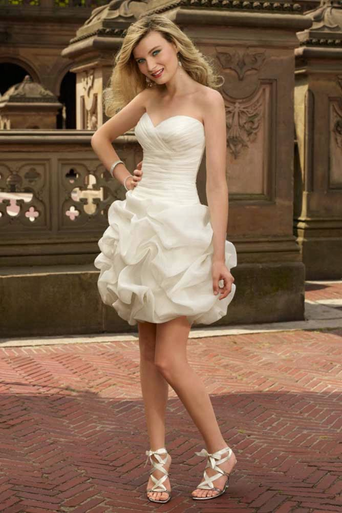 Casual Rose Wedding Dresses Short Design pictures hd