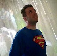 Nick in Superman's Fortress of Solitude