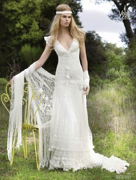 Vestidos de novia con corona de flores