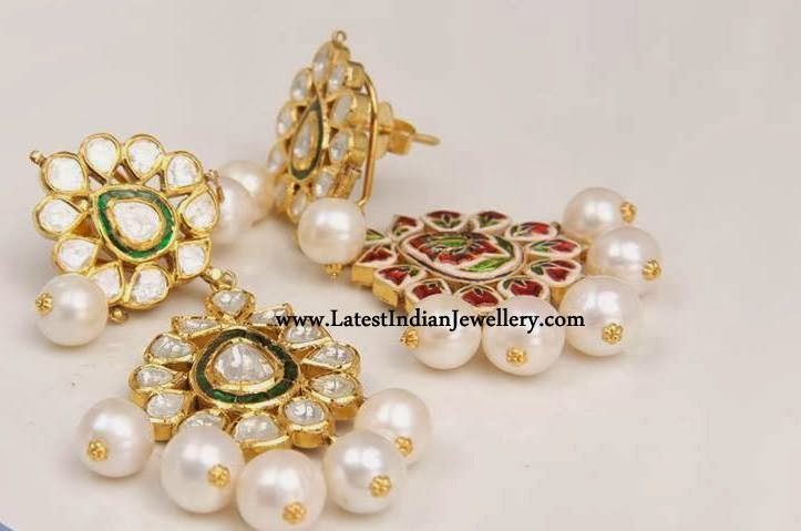 Dazzling Meenakari Earrings