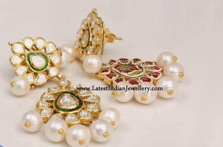 Dazzling Meenakari Earrings
