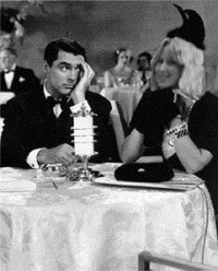 Cary Grant and Liz at Dinner