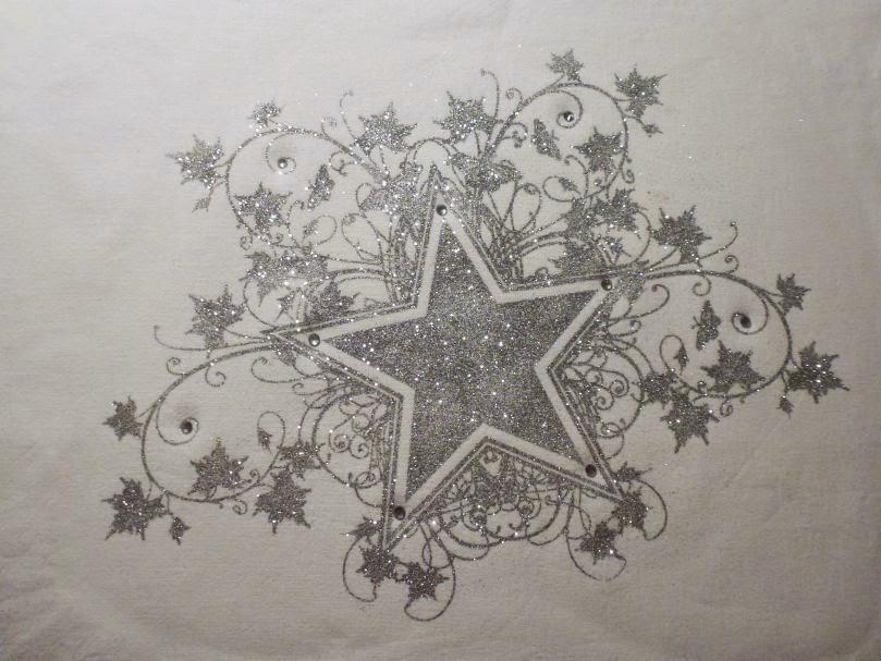 MyStyle Stern in silber mit Flitter