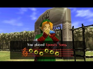 zelda ocarina of time how to get a horse