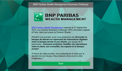 Business Challenge de BNP Paribas Wealth Management