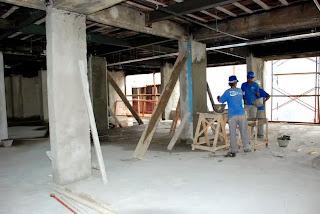 Reforma do Centro Administrativo Celso Dalmaso em Teresópolis tem 50% da obra concluída
