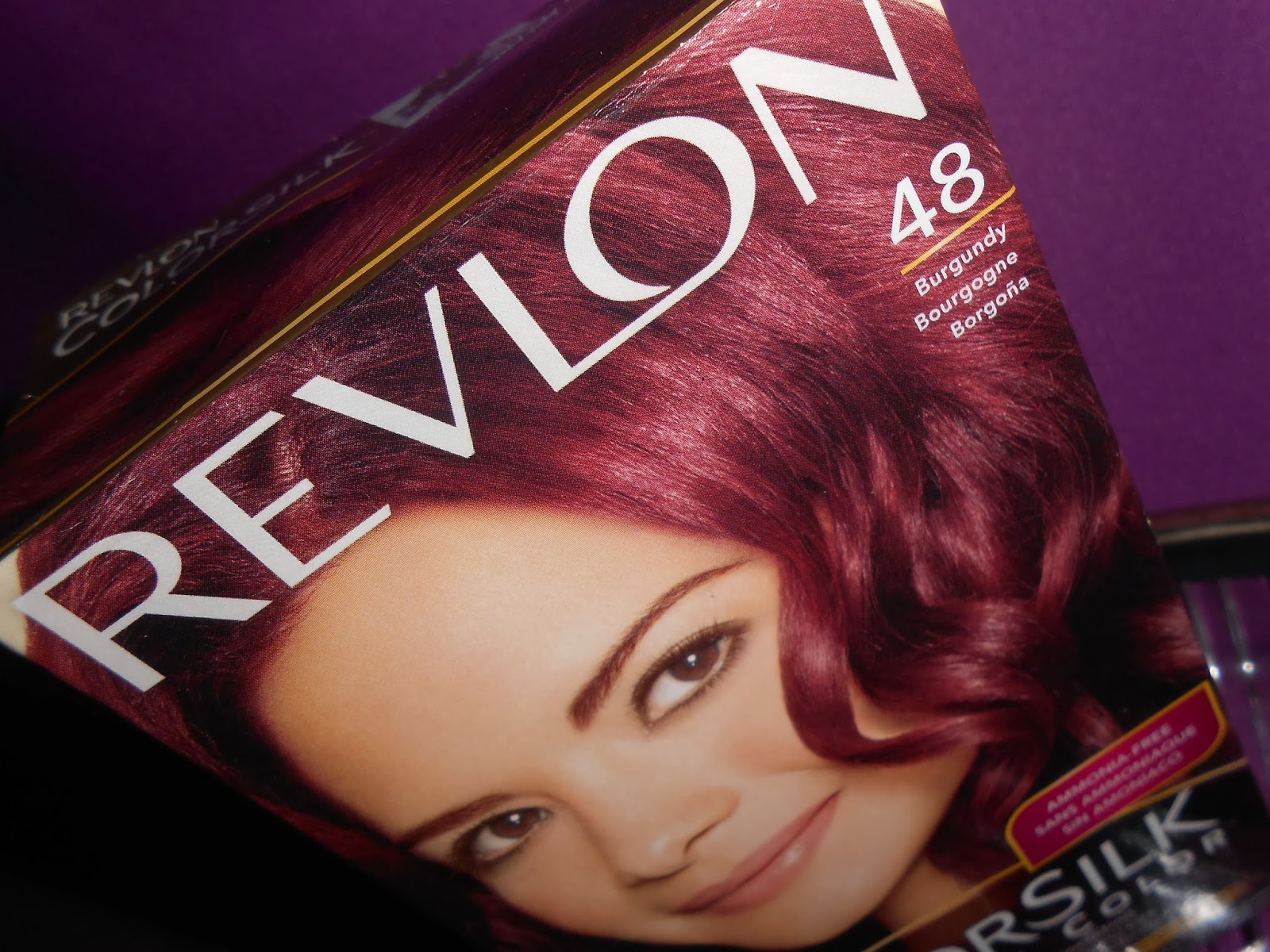 New hair color currently on my locks is revlon burgundy the best