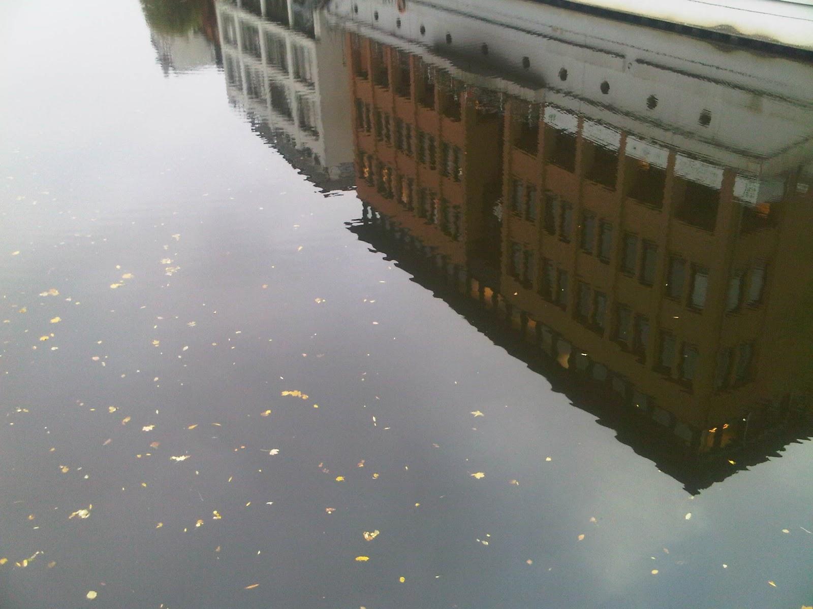 Fleet in Uhlenhorst - Wasserspiegelung