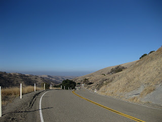 View toward Livermore along winding, hilly Mines Road