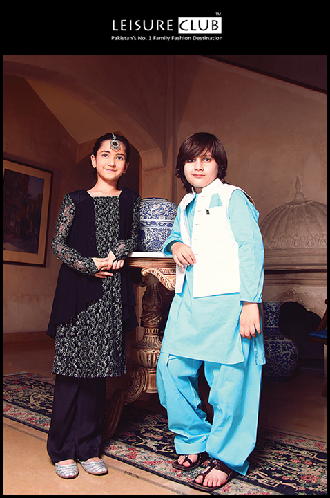 Leisure Club Ready To wear Eid Collection for Kids 2014