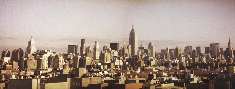 New York Skyline Analog Panorama by anitam.com