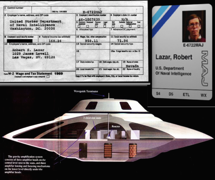 Area 51 confermato l elemento 115 il fisico bob lazar for Area 51 progetti