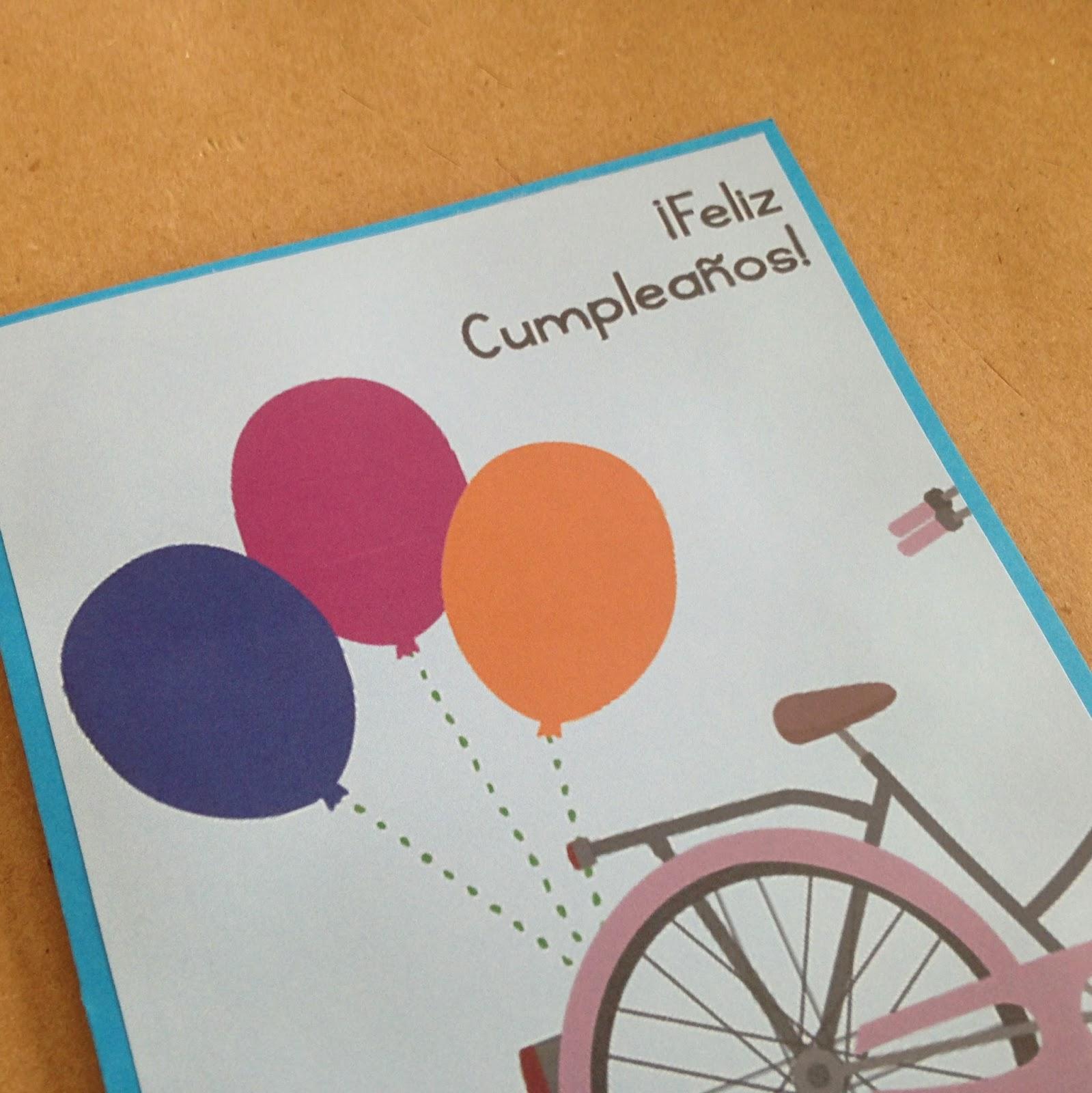 G manualidades diy tarjetas de cumplea os de bicicletas for Hacer tarjeta cumpleanos