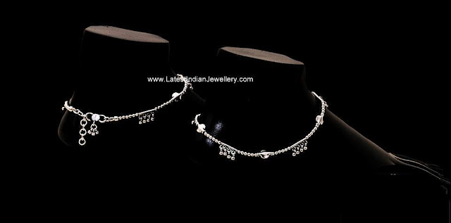 Light weight Silver Anklets