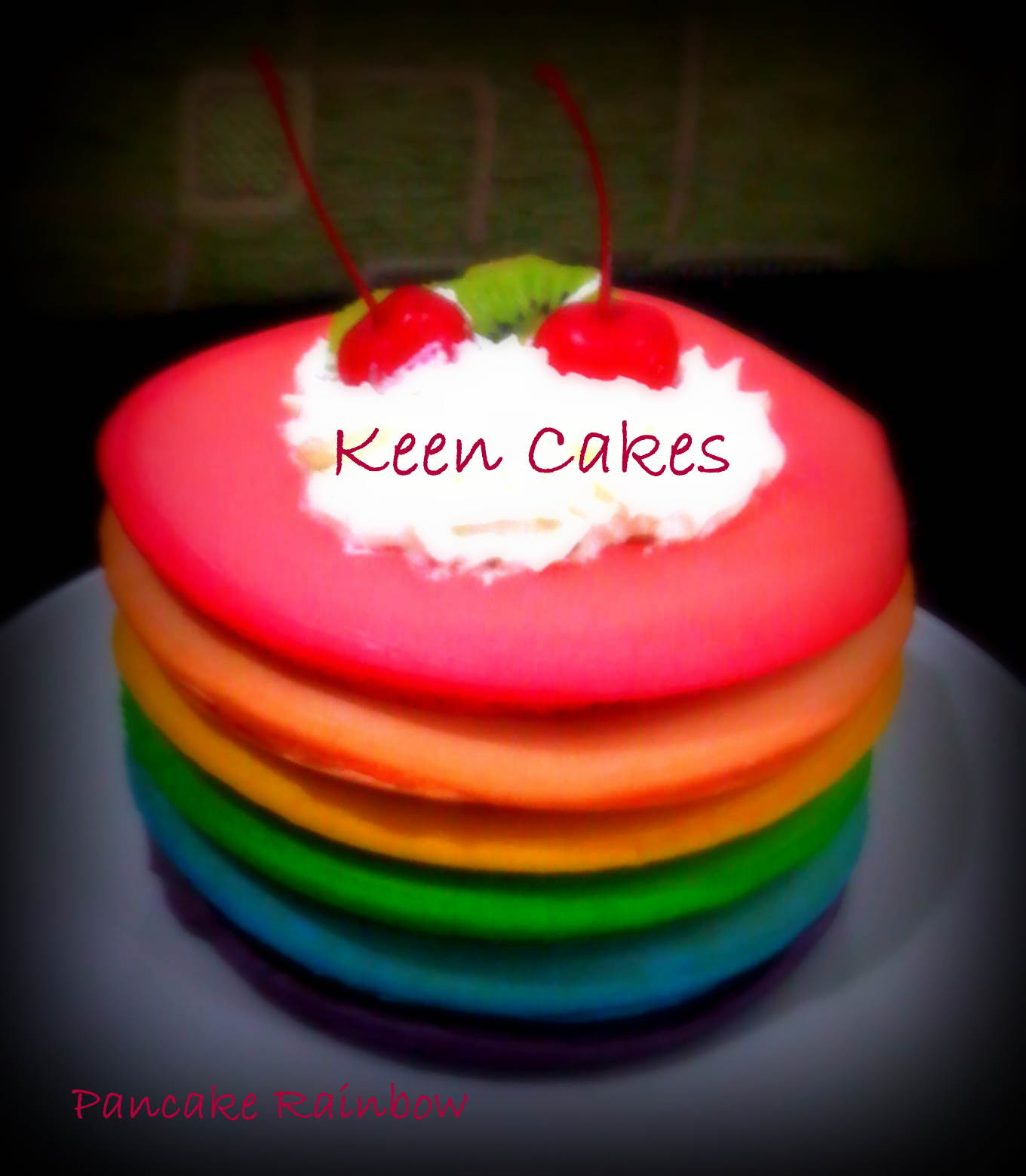 Keen Cakes Pancake Rainbow