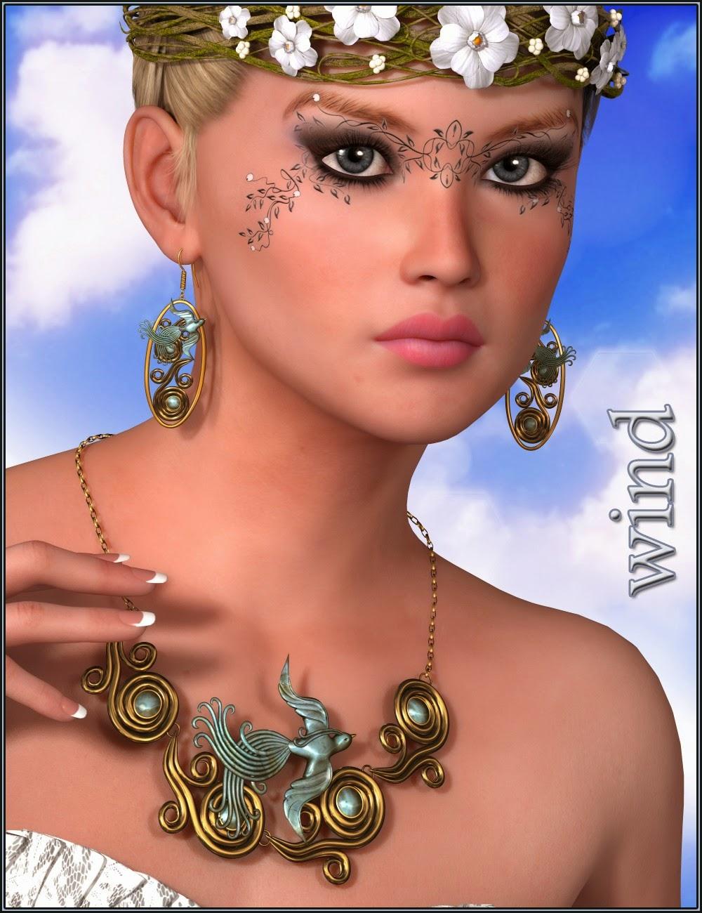 3d Models Art Zone - Elemental Jewelry: Fire, Earth, Wind, and Water